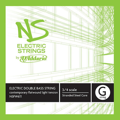 D'Addario NS Electric Contemporary Bass SGL G String 3/4 Scale Med Tension