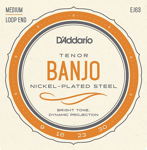 D'Addario EJ63 Tenor Banjo Strings Nickel 9-30