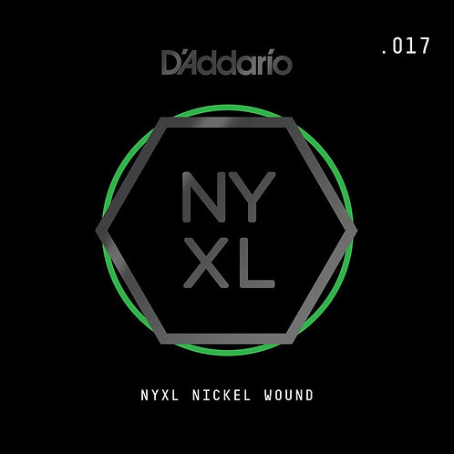 D'Addario NYNW017 NYXL Nickel Wound Electric Guitar SGL String .017