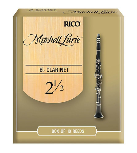Mitchell Lurie Bb Clarinet Reeds Strength 2.5 10 Pack