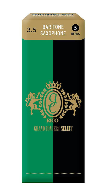 Rico Grand Concert Select Baritone Sax Reeds Strength 3.5 5-pack