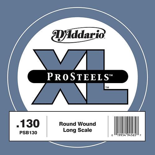 D'Addario PSB130 ProSteels Bass Guitar SGL String Long Scale .130