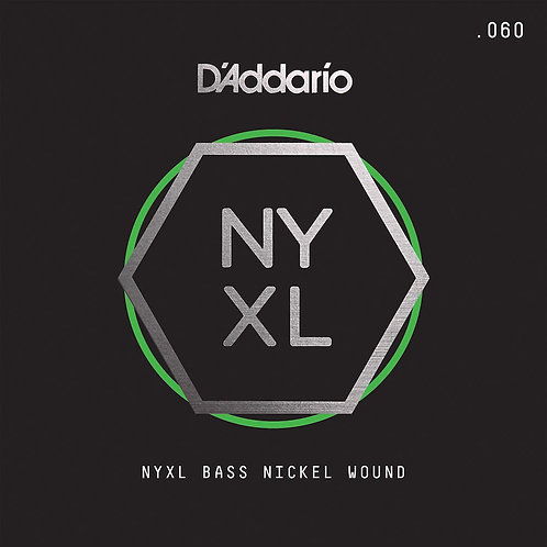 D'Addario NYXLB060 NYXL Nickel Wound Bass Guitar SGL String Long Scale .060