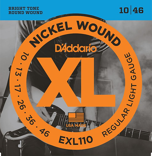 D'Addario EXL110 Nickel Wound Electric Guitar Strings Reg Light 10-46
