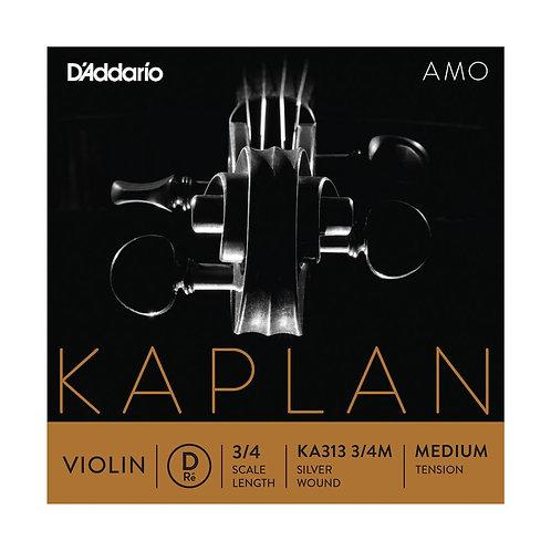 D'Addario Kaplan Amo Violin D String 3/4 Scale Med Tension