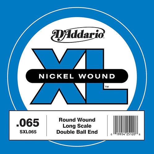 D'Addario SXL065 Nickel Wound Double Ball-End Bass Guitar SGL String Long Scale