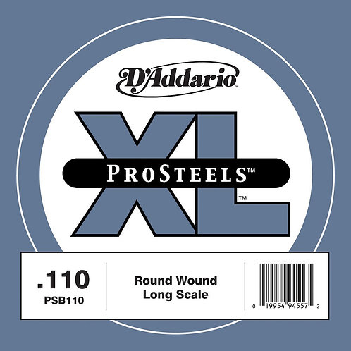 D'Addario PSB110 ProSteels Bass Guitar SGL String Long Scale .110
