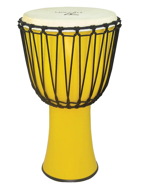 "12"" Fiberglass Djembe - Yellow Finish (Rope Tuned)"