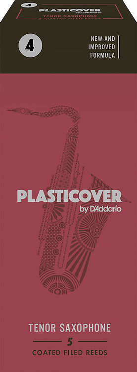 Plasticover by D'Addario Tenor Sax Reeds Strength 4 5-pack