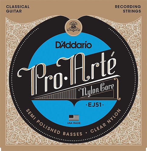 D'Addario EJ51 Pro-Arte Classical Guitar Strings w/Polished Basses Hard Tension
