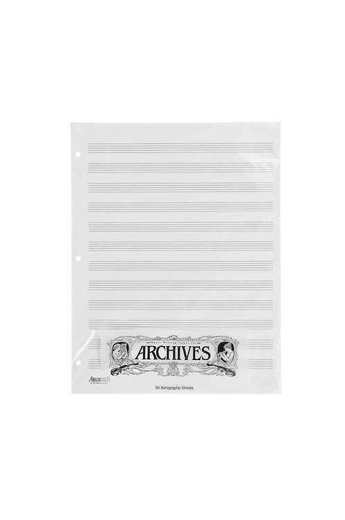 Archives Looseleaf Xerographic Manuscript Paper 12 Stave 50 Pages