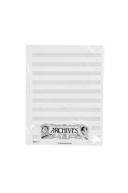Archives Looseleaf Xerographic Manuscript Paper 10 Stave 50 Pages
