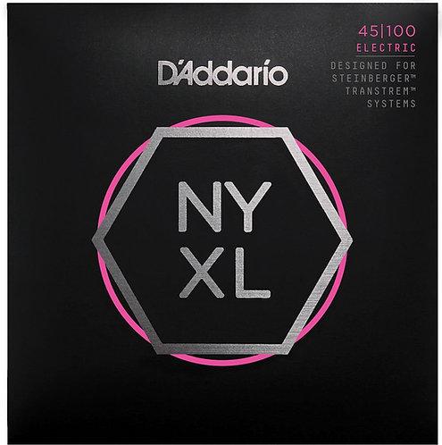 D'Addario NYXLS45100 Nickel Wound Bass Guitar Strings Reg Light 45-100 Double Ba