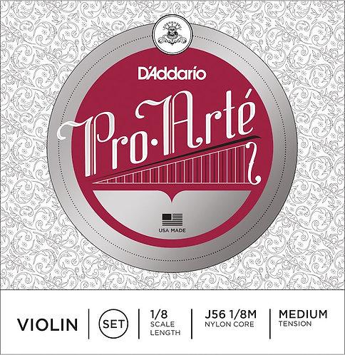 D'Addario Pro-Arte Violin String Set 1/8 Scale Med Tension