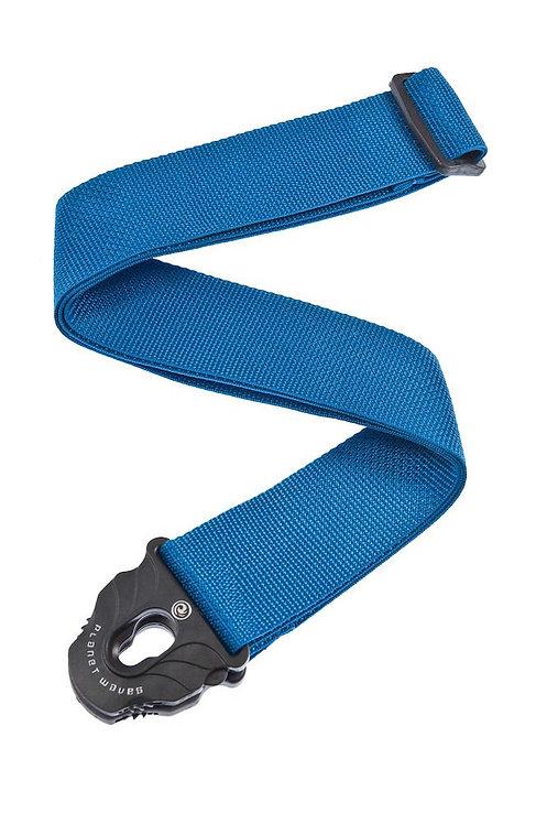 D'Addario Planet Lock Guitar Strap Polypropylene Blue