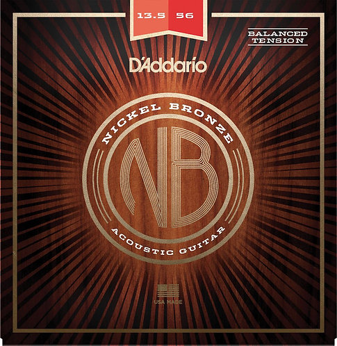 D'Addario NB13556BT Nickel Bronze Acoustic Guitar Strings Balanced Tension Med 1