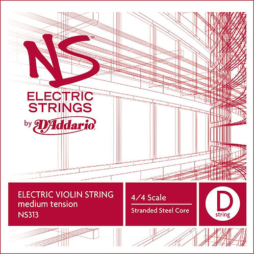 D'Addario NS Electric Violin SGL D String 4/4 Scale Med Tension