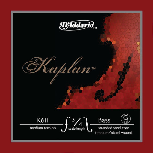 D'Addario Kaplan Bass SGL G String 3/4 Scale Med Tension