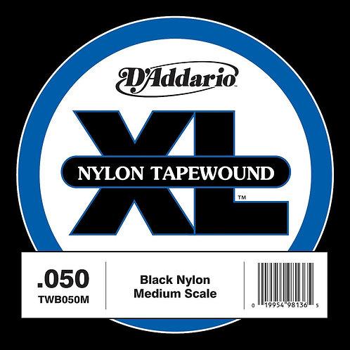 D'Addario TWB050M Nylon Tape Wound Bass Guitar SGL String .050