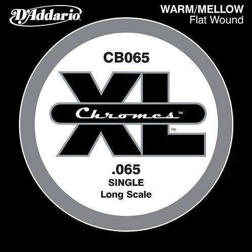 D'Addario CB065 Chromes Bass Guitar SGL String Long Scale .065