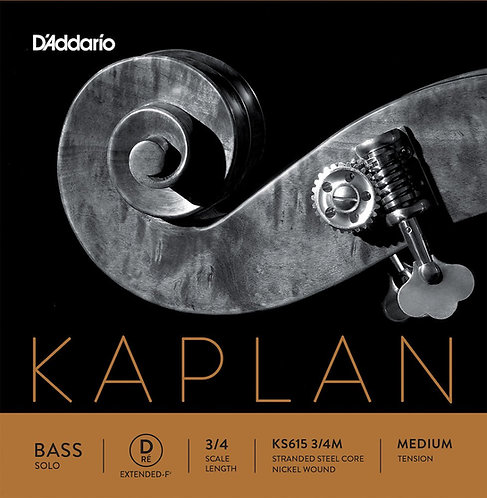 D'Addario Kaplan Solo Double Bass D-Ext String 3/4 Scale Med Tension