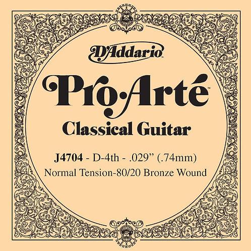 D'Addario J4704 80/20 Bronze Pro-Arte Nylon Classical Guitar SGL String Normal T
