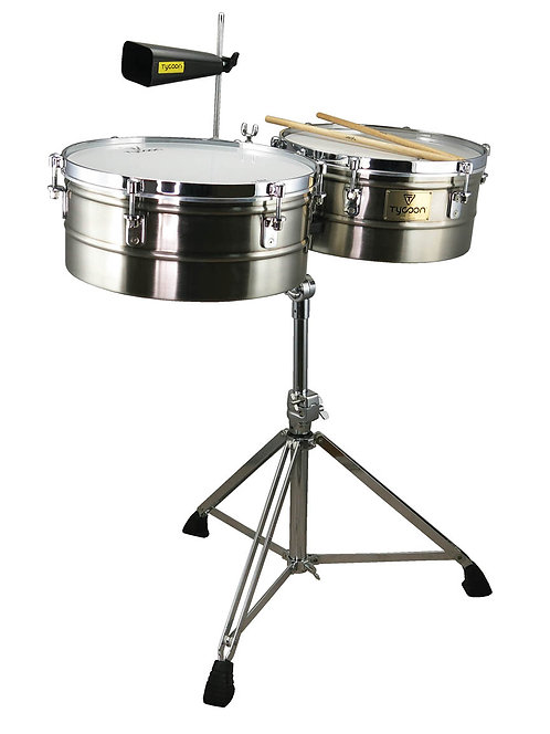 Brushed Chrome Shell Timbales