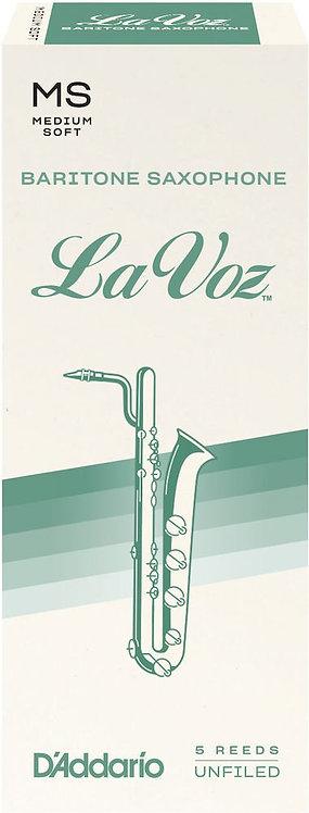 La Voz Baritone Saxophone Reeds Med Soft 5 Pack