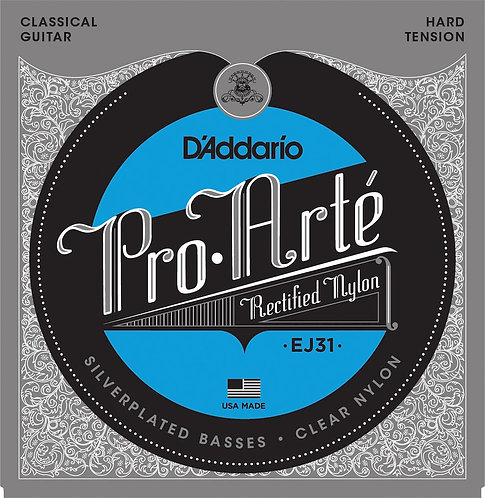 D'Addario EJ31 Classics Rectified Classical Guitar Strings Hard Tension