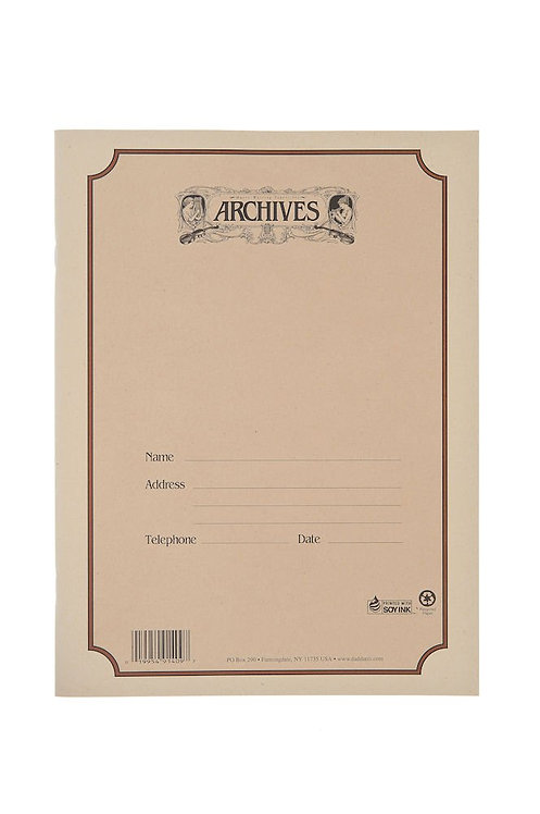 Archives Spiral Bound Manuscript Paper Book 10 Stave 48 Pages