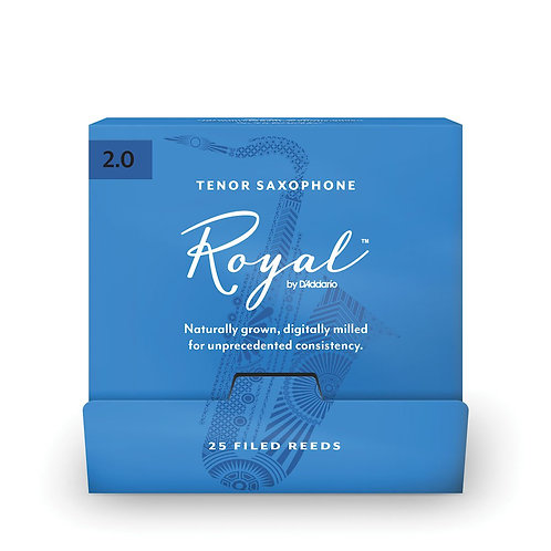 Royal by D'Addario Tenor Saxophone Reeds #2.0 25-Count SGL Reeds