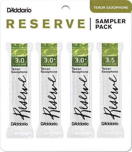 D'Addario Reserve Tenor Saxophone Reed Sampler Pack 3.0/3.0+/3.5