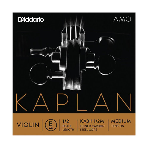 D'Addario Kaplan Amo Violin E String 1/2 Scale Med Tension