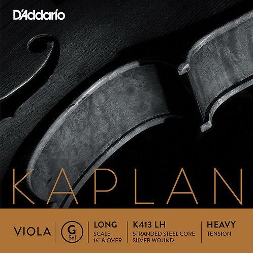 D'Addario Kaplan Forza Viola SGL G String Long Scale HvyTension
