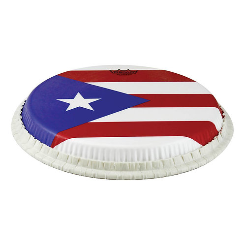 "Remo Conga  Tucked, 12.5"",  ""puerto Rican Flag"" Graphic"