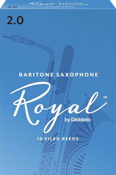 Royal by D'Addario Baritone Sax Reeds Strength 2 10-pack