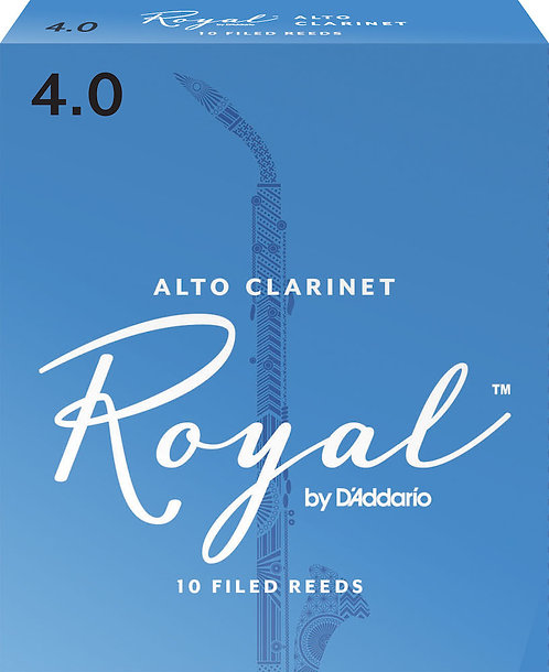 Royal by D'Addario Alto Clarinet Reeds Strength 4 10 Pack