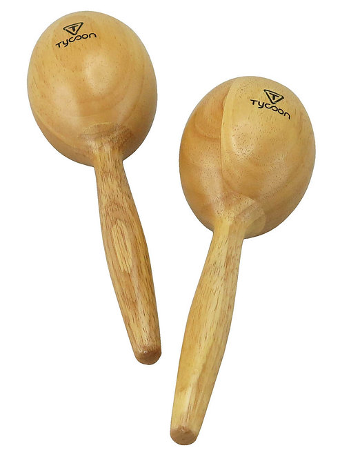 Wooden Maracas - Natural Finish
