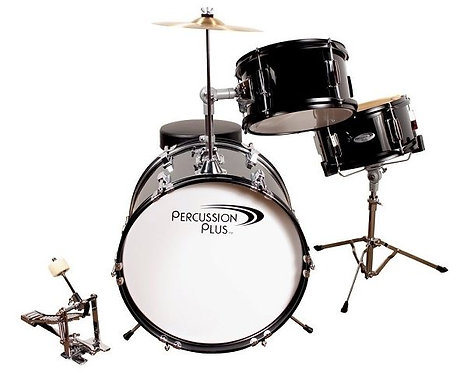 3-Piece Junior Drum Set w/ Cymbal & Throne