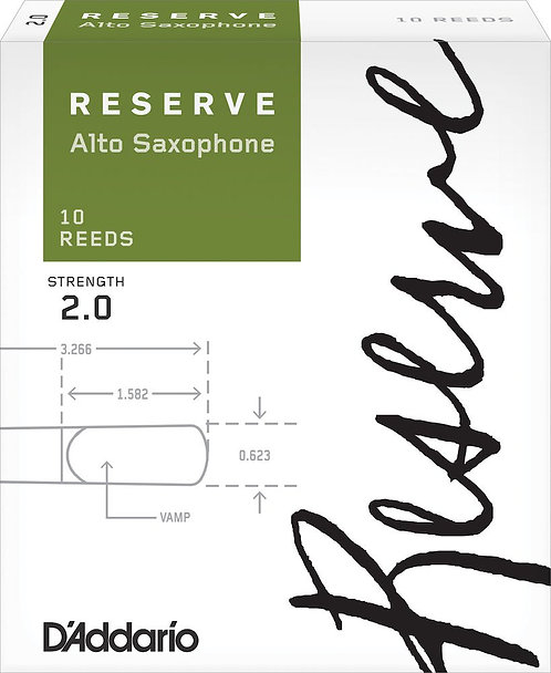 D'Addario Reserve Alto Saxophone Reeds Strength 2.0 10-pack