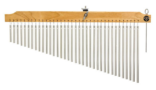 36 Chrome Chimes With Natural Finish Wood Bar
