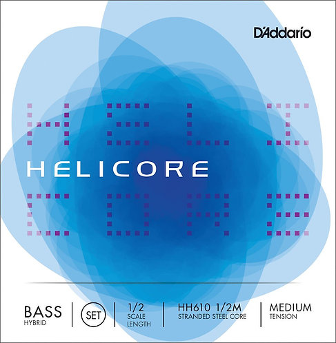 D'Addario Helicore Hybrid Bass String Set 1/2 Scale Med Tension
