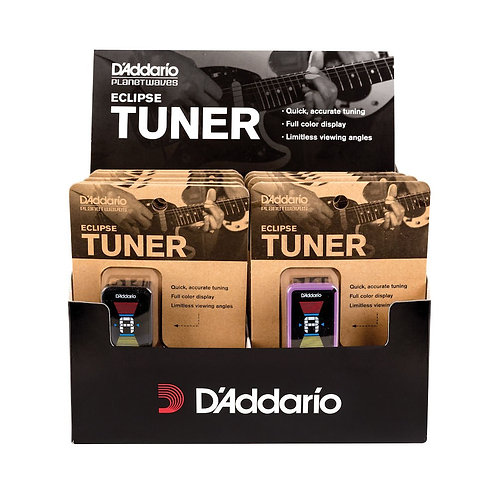 D'Addario Eclipse Headstock Tuner Assorted Color 10pk