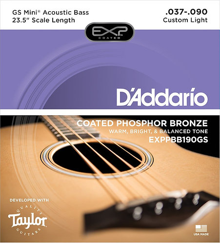 D'Addario EXPPBB190GS Phosphor Bronze Coated Acoustic Bass Strings Taylor GS Min