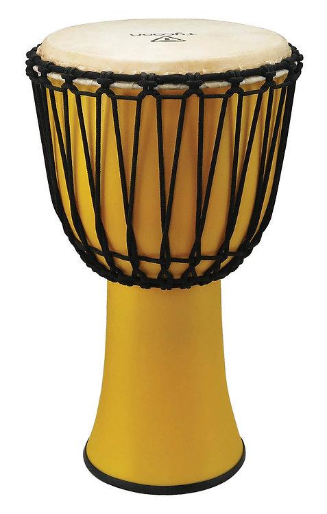 "10"" Fiberglass Djembe - Yellow Finish (Rope Tuned)"