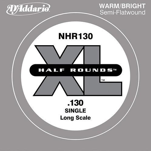 D'Addario NHR130 Half Round Bass Guitar SGL String Long Scale .130