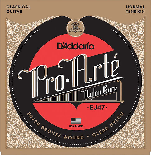 D'Addario EJ47 80/20 Bronze Pro-Arte Nylon Classical Guitar Strings Normal