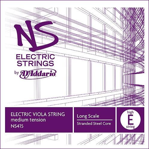 D'Addario NS Electric Viola SGL High E String Long Scale Med Tension