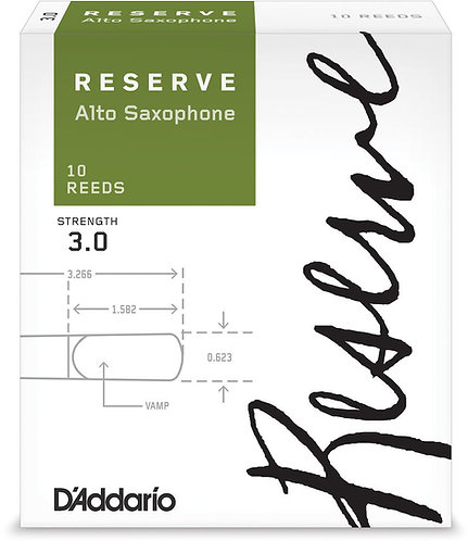 D'Addario Reserve Alto Saxophone Reeds Strength 3.0 10-pack