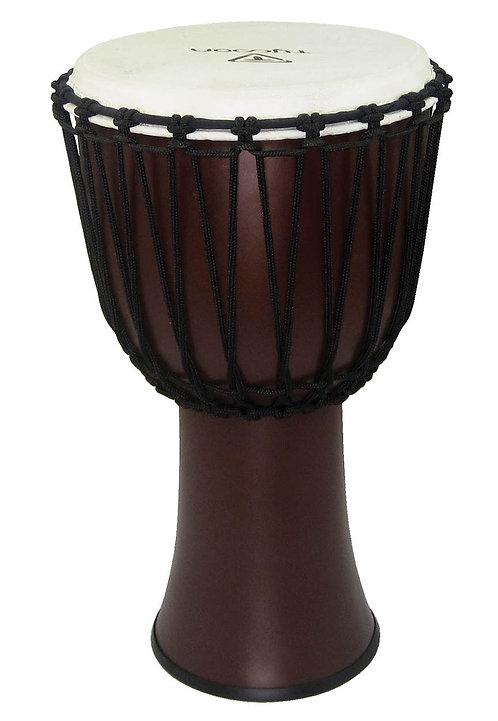"""10"""" Fiberglass Djembe - Dark Brown Finish (Rope Tuned)"""